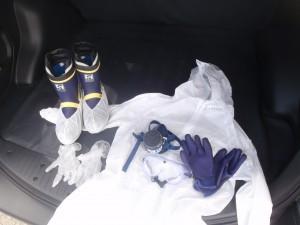 防護服、その他特殊清掃資材一式