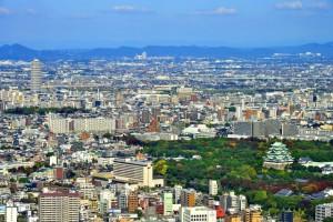 名古屋城と名古屋市街
