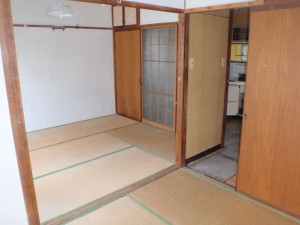 遺品整理後の居室の様子