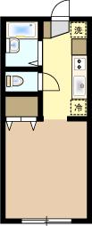 1Kマンションの間取り図