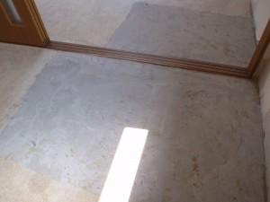特殊清掃後の床面