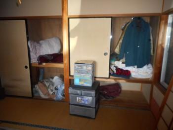 遺品整理前の和室の様子