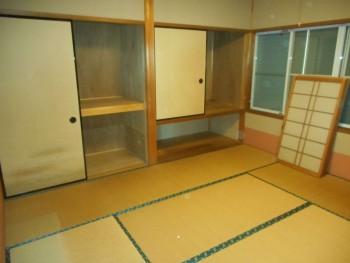 遺品整理後の和室の様子
